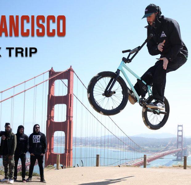 Riding BMX in San Francisco