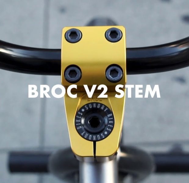 BROC RAIFORD   Odyssey BMX – Gold BROC v2 Stem – Available Now